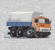 Cartoon Cargo Truck One Piece - Long Sleeve