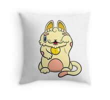LUCKEECAT Golden litter Throw Pillow