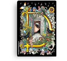 """The Illustrated Alphabet Capital  D  """"Getting personal"""" from THE ILLUSTRATED MAN Canvas Print"""