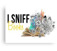I Sniff Books Canvas Print