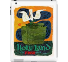 """""""TWA AIRLINES"""" Fly to The Holy Land Advertising Print iPad Case/Skin"""
