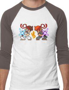 Fight Yourself - Mirror Version Men's Baseball ¾ T-Shirt