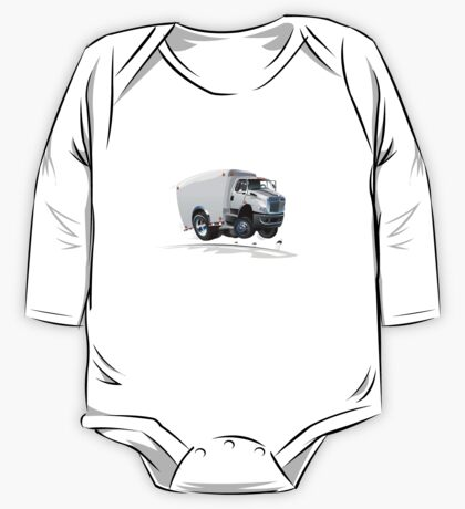 cartoon delivery / cargo truck One Piece - Long Sleeve
