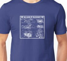 Blade Runner spinner blueprint Unisex T-Shirt