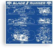 Blade Runner spinner blueprint Canvas Print
