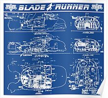 Blade Runner spinner blueprint Poster