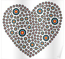 Heart made of targets Poster
