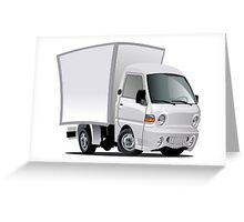 cartoon delivery / cargo truck Greeting Card