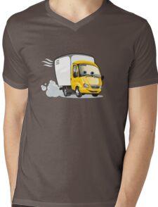 Cartoon delivery / cargo truck Mens V-Neck T-Shirt