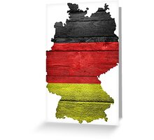 Germany Flag Map Greeting Card