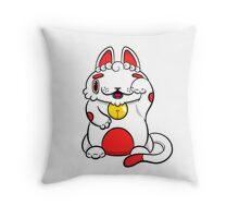 LUCKEE White and Red litter Throw Pillow