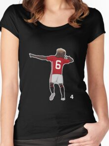 Pogba Dabbing Women's Fitted Scoop T-Shirt