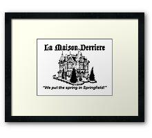 La Maison Derriere – Bart After Dark, Simpsons Framed Print