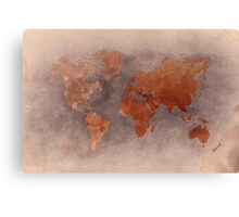 World map brown Canvas Print