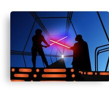 Luke vs Vader on Bespin Canvas Print