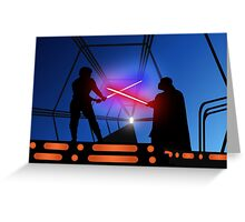 Luke vs Vader on Bespin Greeting Card