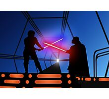 Luke vs Vader on Bespin Photographic Print