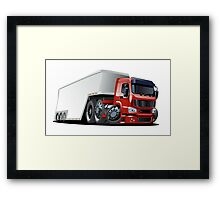 Cartoon cargo semi-truck Framed Print