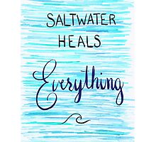 Saltwater Heals Everything Wave Symbol Photographic Print