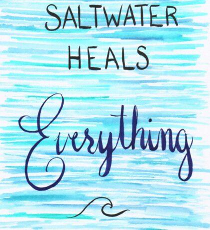Saltwater Heals Everything Wave Symbol Sticker