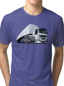 Cartoon cargo semi-truck Tri-blend T-Shirt