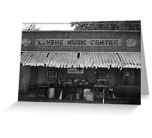LaVene Music Center / Red's Blues Club Greeting Card