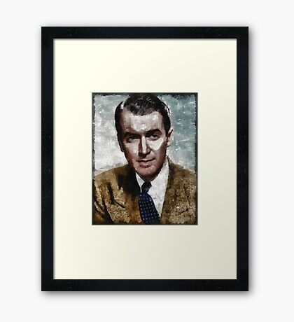 James Stewart Hollywood Actor Framed Print