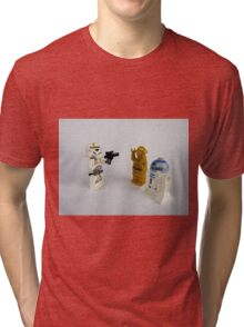 Toy Figure Characters Tri-blend T-Shirt