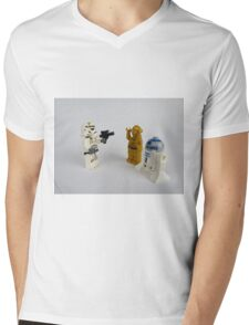 Toy Figure Characters Mens V-Neck T-Shirt