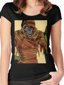 The Mummy Attacks Women's Fitted Scoop T-Shirt