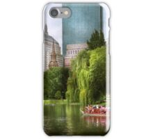 City - Boston Ma - Boston public garden iPhone Case/Skin