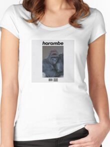 Harambe Blond Women's Fitted Scoop T-Shirt