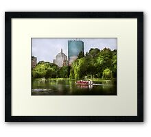 City - Boston Ma - Boston public garden Framed Print