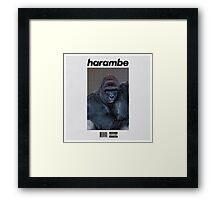 Harambe Blond Framed Print