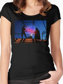 Luke vs Vader on Bespin Women's Fitted Scoop T-Shirt