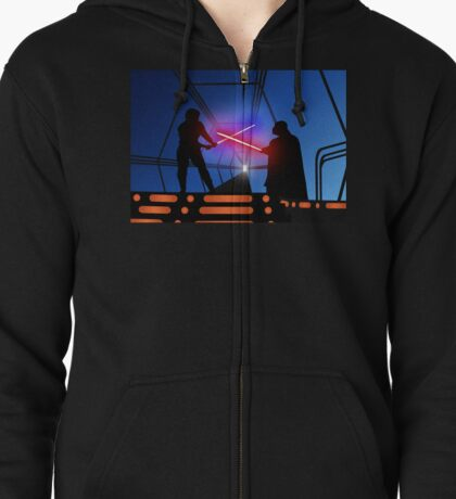 Luke vs Vader on Bespin Zipped Hoodie