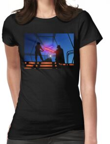 Luke vs Vader on Bespin Womens Fitted T-Shirt