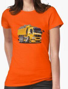 Cartoon Dump Truck Womens Fitted T-Shirt