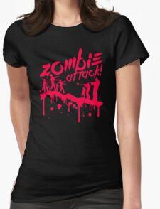 Zombie Attack Blood Womens Fitted T-Shirt