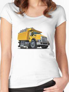 Cartoon Dump Truck Women's Fitted Scoop T-Shirt