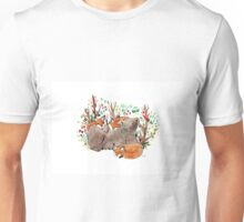 Mamma bear and baby foxes Unisex T-Shirt
