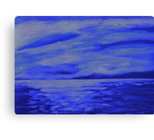 After the storm  (blue version) Canvas Print