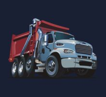 Cartoon Dump Truck Kids Tee