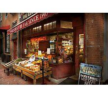 City - Boston Ma - Fresh meats and Fruit Photographic Print