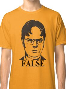Dwight Schrute False The Office Classic T-Shirt