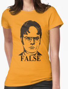 Dwight Schrute False The Office Womens Fitted T-Shirt