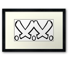 Double Cross K!KRS Framed Print