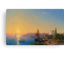 Aivasovsky Ivan - View Of Constantinople And The Bosphorus Canvas Print