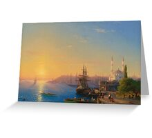 Aivasovsky Ivan - View Of Constantinople And The Bosphorus Greeting Card