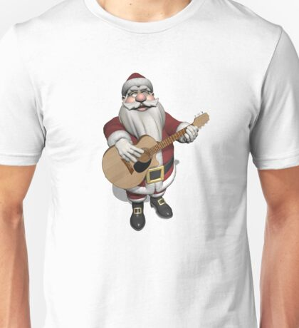 Santa Claus Plays Accoustic Guitar Unisex T-Shirt